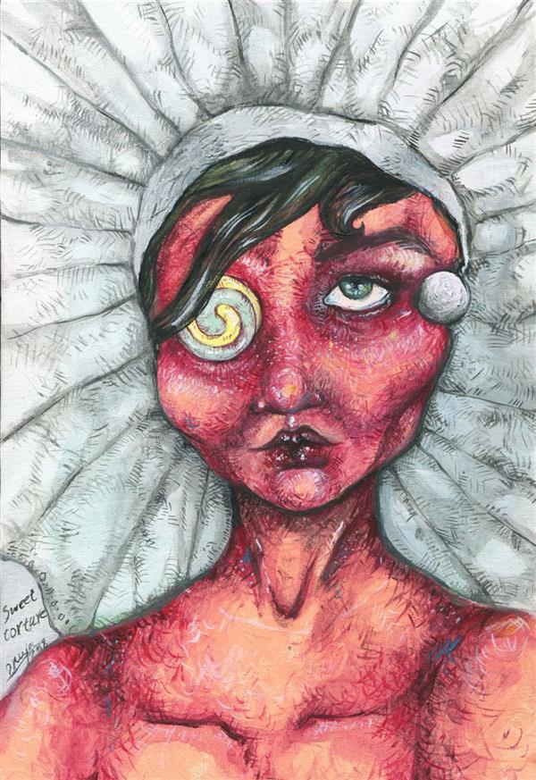 هنر نقاشی و گرافیک محفل نقاشی و گرافیک 2nya اثر دنیا دلشادیان, سبک #پاپ_سورئال اکرلیک روی بوم 20 در 30