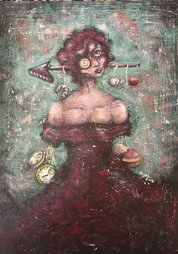 هنر نقاشی و گرافیک محفل نقاشی و گرافیک 2nya اثر دنیا دلشادیان  اکرلیک روی بوم 50 در 70