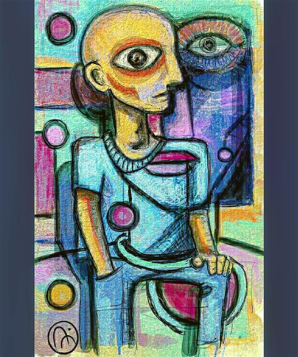 هنر نقاشی و گرافیک محفل نقاشی و گرافیک امیر حسین مدنی کارها اسمی ندارند به این دلیل که تا حد امکان از حس لحظه استفاده میکنم و معمولا خودم بعد از مدتی درکشون میکنم.فقط در حد خودم سعی میکنم هماهنگی طرح و رنگ رعایت بشه و ترجیح میدم با اسم محدود نشن که هرکس از زاویه دید خود کاررو ببینه.