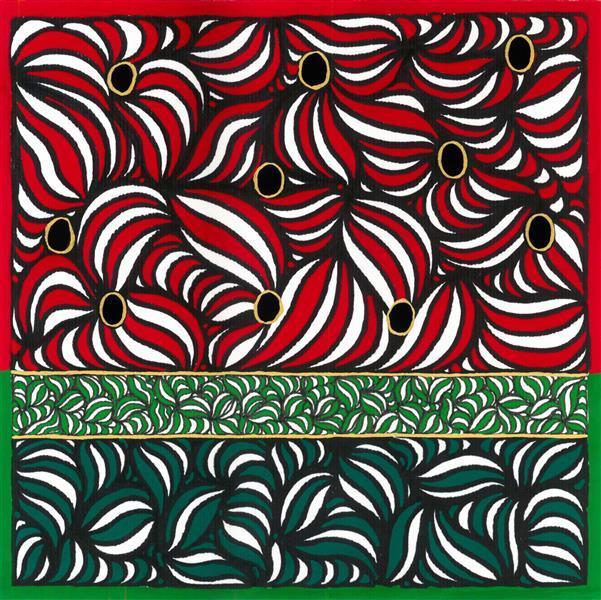 هنر نقاشی و گرافیک محفل نقاشی و گرافیک سمانه رهنما 20 در 20 آبستره doodle art