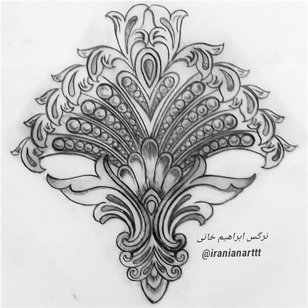 هنر نقاشی و گرافیک محفل نقاشی و گرافیک نرگس ابراهیم خانی #طراحی گلهای فرنگی از مجموعه طراحی های سنتی