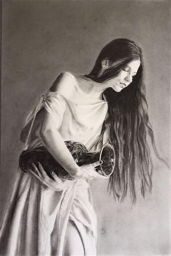 هنر نقاشی و گرافیک محفل نقاشی و گرافیک hassan alamouti steinbach paper - pencil - girl - realism