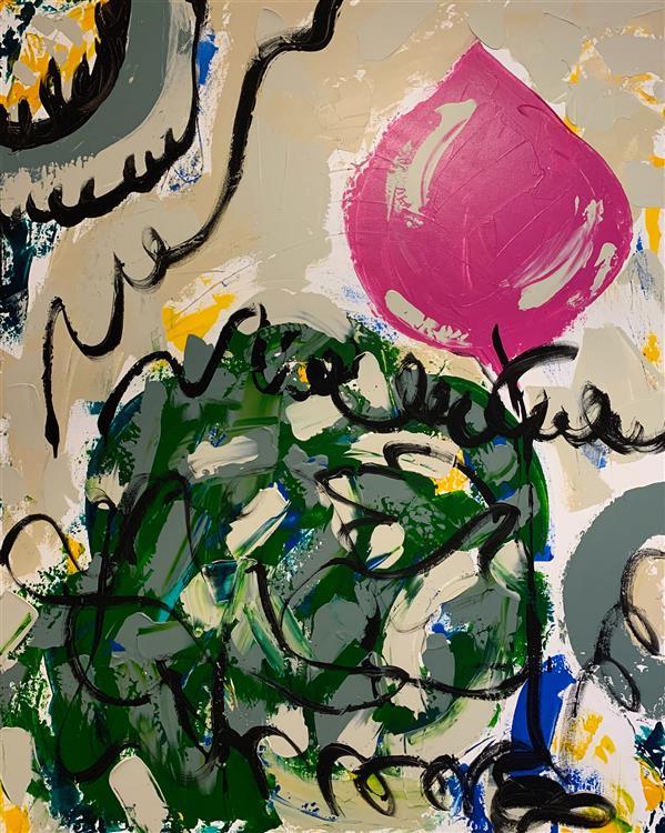 """هنر نقاشی و گرافیک محفل نقاشی و گرافیک Emela Brace  """"Tulip Mania"""" is an original artwork , New Work in my Gallery. Acrylic on canvas , acrylic markers, metallic colors ."""
