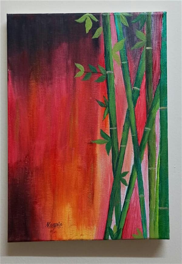 هنر نقاشی و گرافیک محفل نقاشی و گرافیک Neva Zenim Bamboo Trees. wall art.