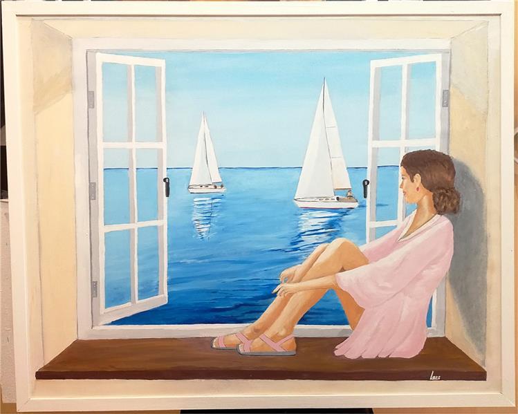 هنر نقاشی و گرافیک محفل نقاشی و گرافیک Lars Berglund Acrylic painting on canvas