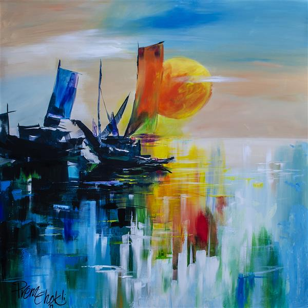 هنر نقاشی و گرافیک محفل نقاشی و گرافیک Preman K-P Acrylic painting on canvas
