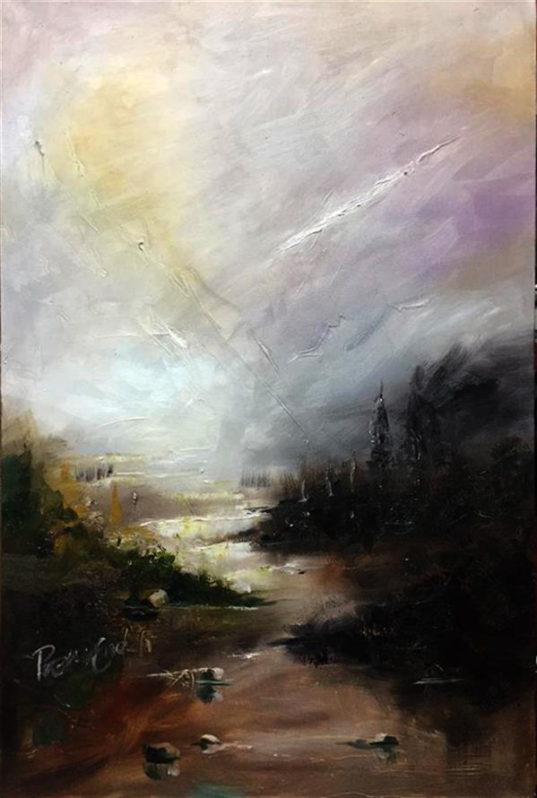 هنر نقاشی و گرافیک محفل نقاشی و گرافیک Preman K-P Oil Painting on Canvas Abstract Landscape