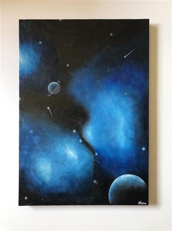 هنر نقاشی و گرافیک محفل نقاشی و گرافیک Nesma El-Kawa Oil Painting #painting #oiloncanvas #oilpainting #space #art