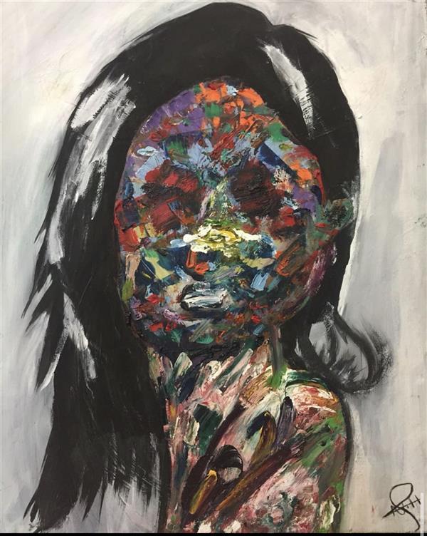 هنر نقاشی و گرافیک محفل نقاشی و گرافیک Nada alhorani #Abstract art, #oil painting.