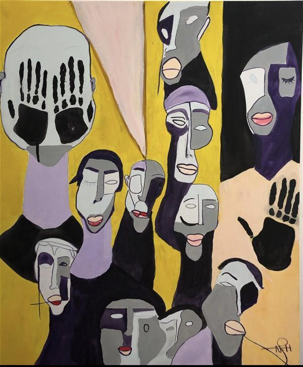 هنر نقاشی و گرافیک محفل نقاشی و گرافیک Nada alhorani #abstract art #acrylic paint