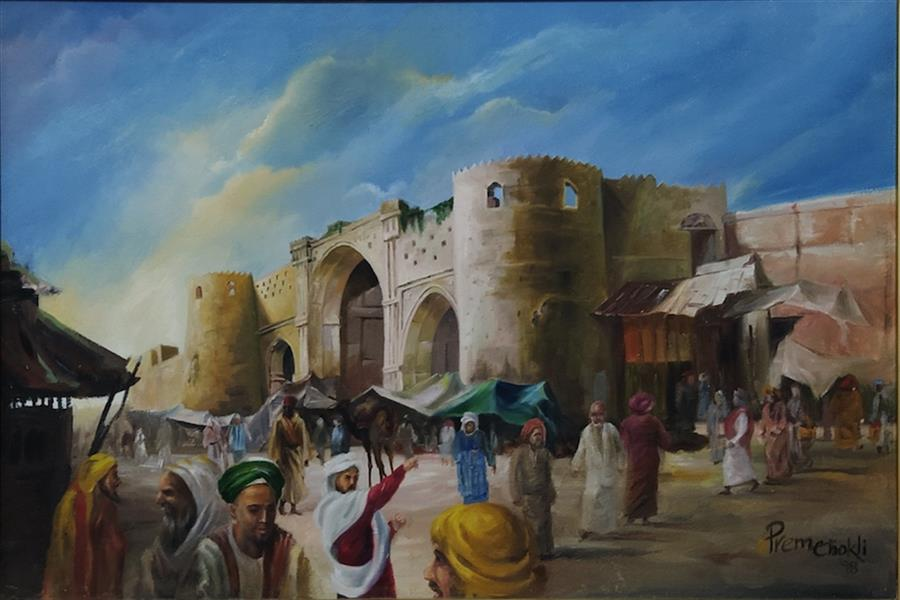 هنر نقاشی و گرافیک محفل نقاشی و گرافیک Preman K-P Print on canvas material