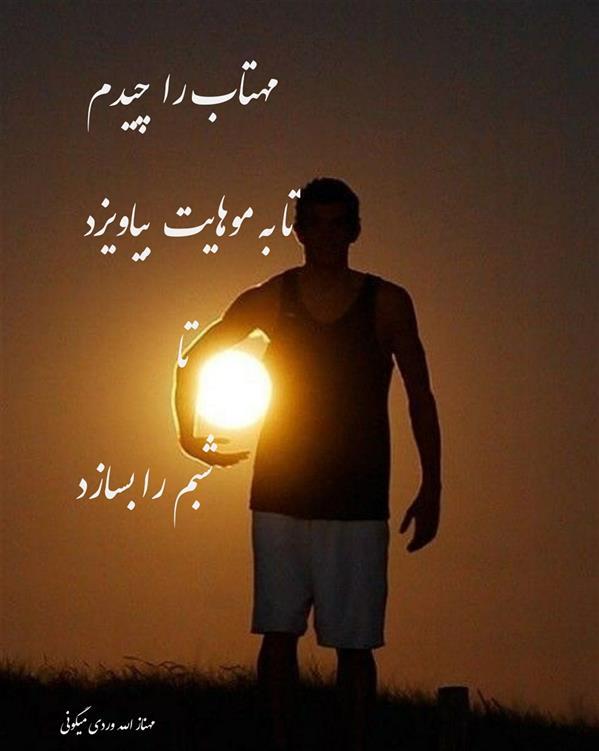 هنر شعر و داستان محفل شعر و داستان مهناز الله وردی میگونی #مهتاب_را_چیدم #تا_به_موهایت_بیاویزد #شبم_را_بسازد #شبخوش#ماه#مهتاب#شب