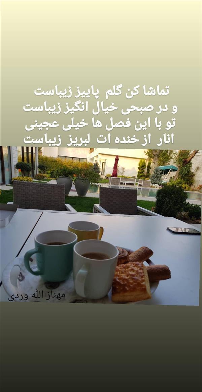 هنر شعر و داستان محفل شعر و داستان مهناز الله وردی میگونی تماشا کن گلم پاییز  زیباست  .پاییز.مهناز الله وردی میگونی .میگون
