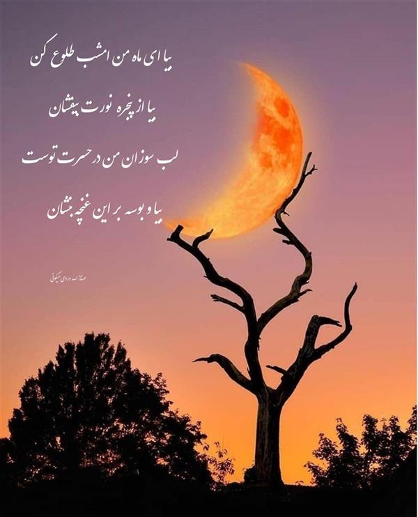 هنر شعر و داستان محفل شعر و داستان مهناز الله وردی میگونی #شبخوش#ماه#بوسه#تنهایی #عشق
