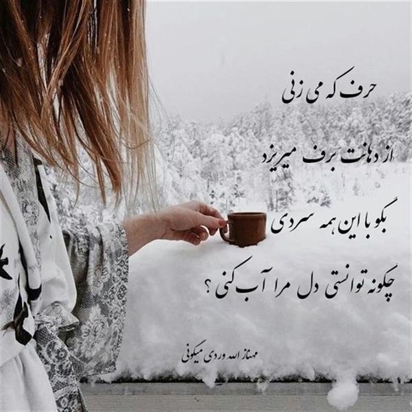 هنر شعر و داستان محفل شعر و داستان مهناز الله وردی میگونی #برف#سردی#عشق#حرارت_و_مستی#گرمای_عشق