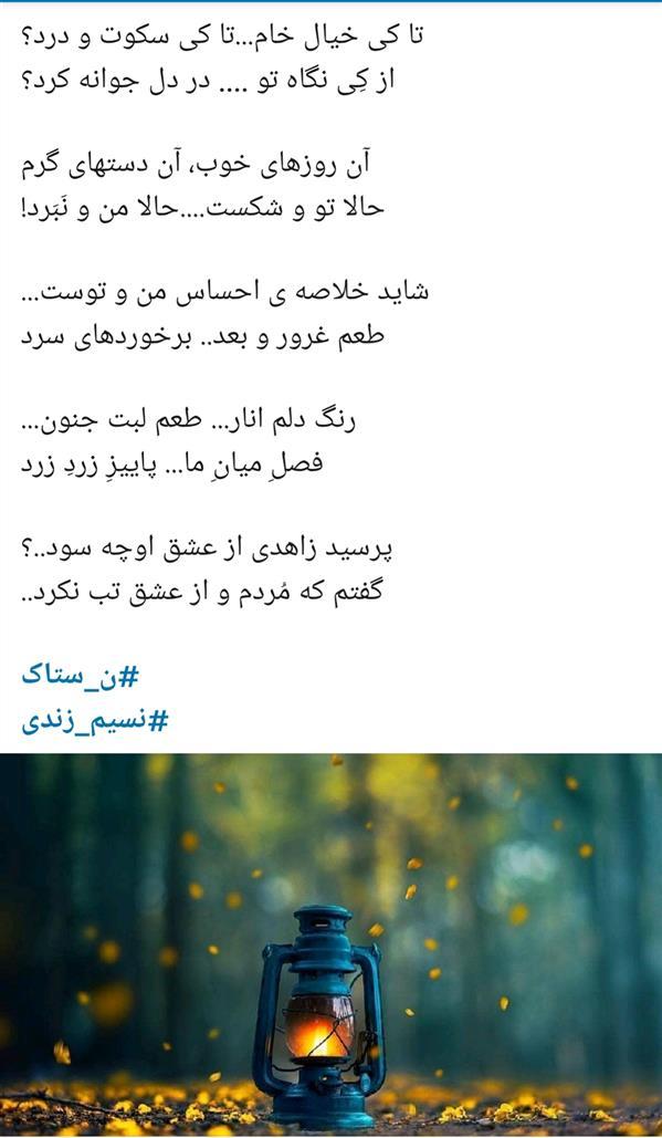 هنر شعر و داستان محفل شعر و داستان نسیم زندی زاده(ں-ښ ٺاڪ)