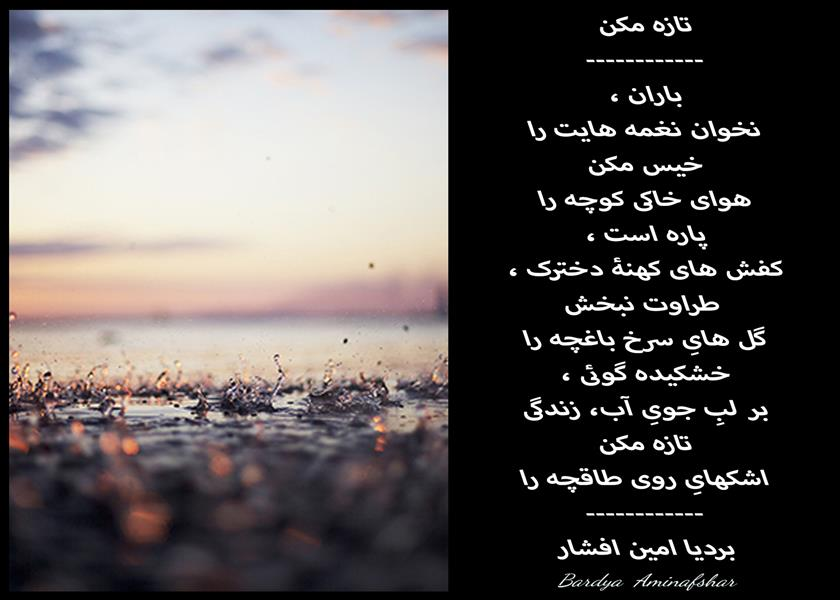هنر شعر و داستان محفل شعر و داستان بردیا امین افشار #تازه_مکن #باران #شعر_سپید #بردیا #امین_افشار #شعر #سپید