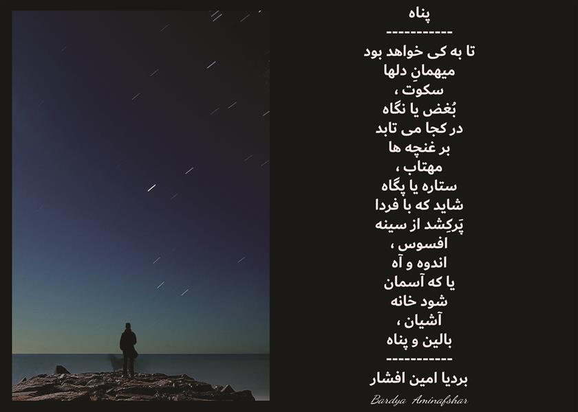 هنر شعر و داستان محفل شعر و داستان بردیا امین افشار #پناه #شعر_سپید #بردیا #امین_افشار