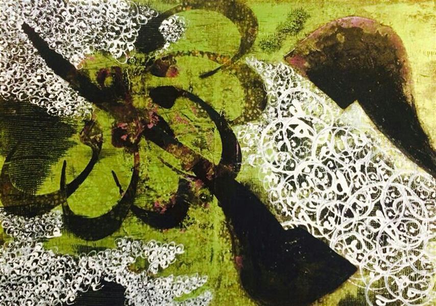 هنر خوشنویسی محفل خوشنویسی سهیلا احمدی اکرولیک روی بوم