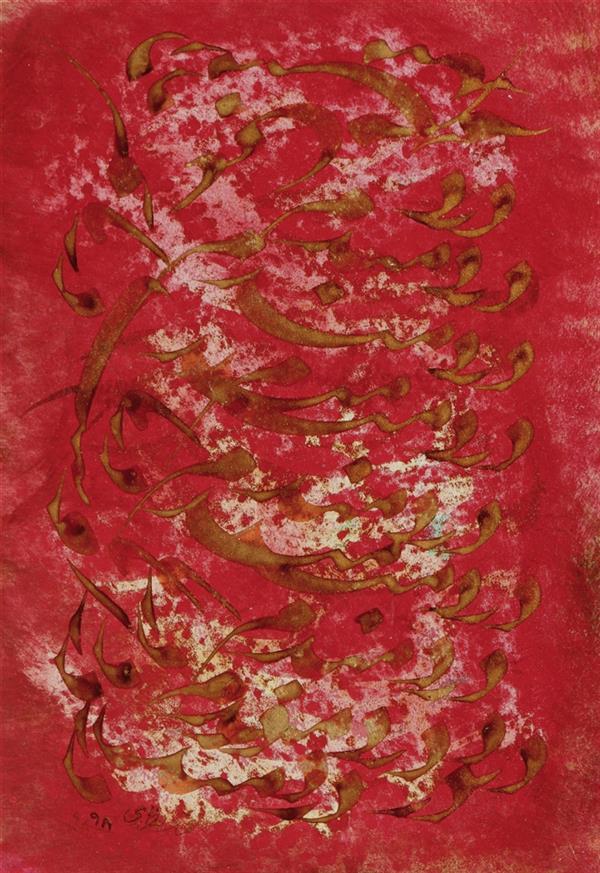 هنر خوشنویسی محفل خوشنویسی محمد مظهری (#پرتره) دردمندم دردمندم دردمند، دُرد دَرد اوست درمانم بلی... ۳۵×۵۰ اکریلیک روی مقوا، پرس شده روی پلکسی قاب چوبی