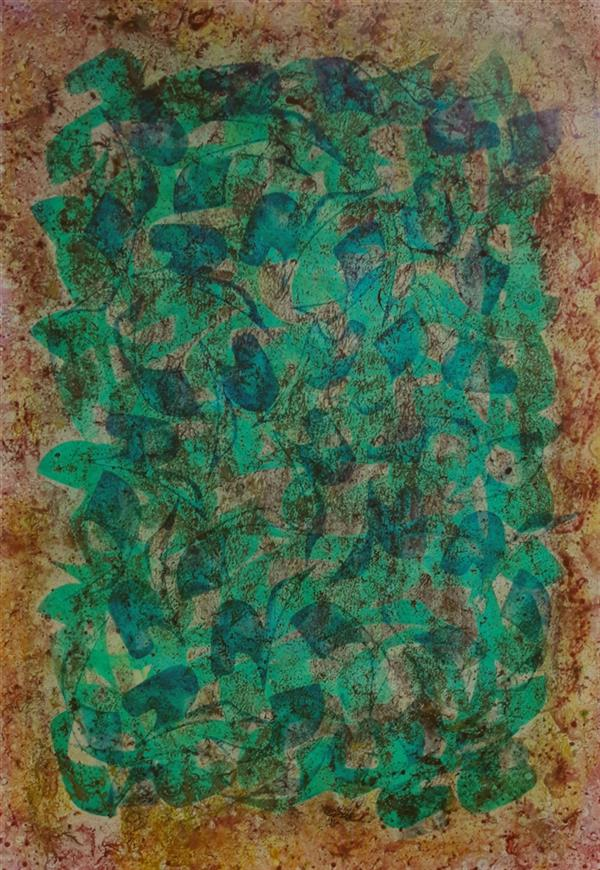 هنر خوشنویسی محفل خوشنویسی محمد مظهری مدد... (۳۵×۵۰) مرکب و اکریلیک روی مقوا، پرس شده روی پلکسی (قاب چوبی)