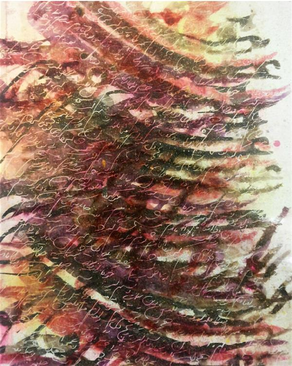 هنر خوشنویسی محفل خوشنویسی عباس درودیان بدست غم گرفتارم بیا ای یار دستم گیر  #عراقی