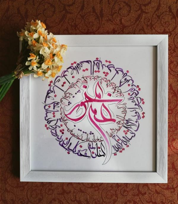 هنر خوشنویسی محفل خوشنویسی مهشید رعیت یوسف گم گشته باز آید به کنعان غم مخور ابعاد: مربع ۲۵ سانت #معلی