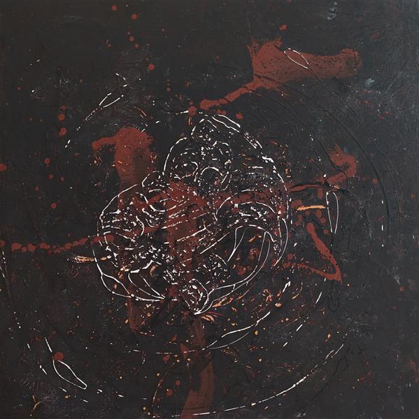 هنر خوشنویسی محفل خوشنویسی نگارخانه نگر هنرمند:حسنمهربانی Hasan Mehrabani Mixed media on Canvas C3-53