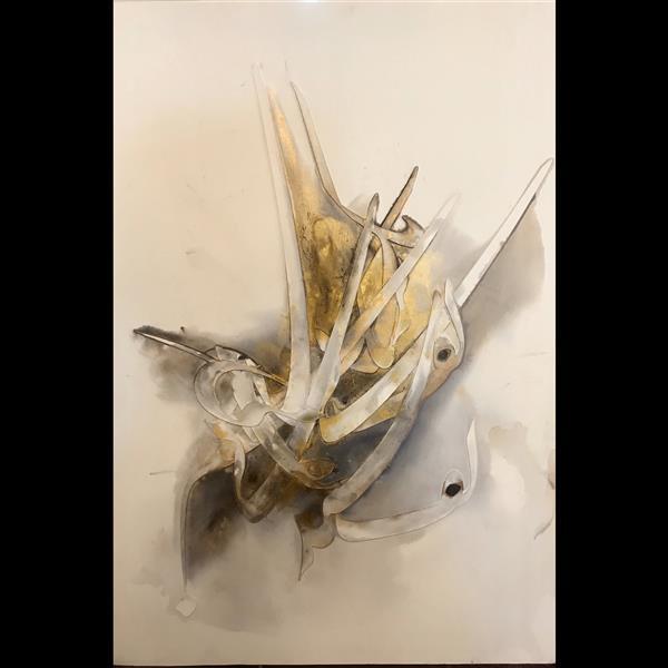 هنر خوشنویسی محفل خوشنویسی افسانه ایزدی نام اثر : اوهام نام هنرمند : افسانه ایزدی متریال : ترکیب مواد روی بوم سال خلق اثر : ۱۳۹۹