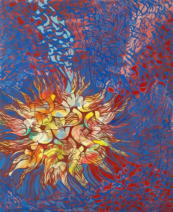 هنر خوشنویسی محفل خوشنویسی مریم عسگری #مریم عسگری نام اثر :سی مرغ #سال خلق ۱۳۹۹ تکنیک :ترکیب مواد یکی شدن، یکی بودن، یکی دیدن ، زمانی اتفاق می افتد که از تمام دل مشغولی ها مانند یک پرنده رها شوی و به درون خود پرواز کنی تا تمام کائنات فقط برای تو حرکت کنند.