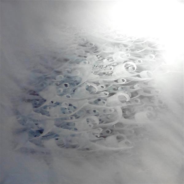 هنر خوشنویسی محفل خوشنویسی علی حسن پور عشق شادیست  عشق آزادی است  عشق آغاز آدمیزادی است تکنیک ( آکرولیک روی بوم )