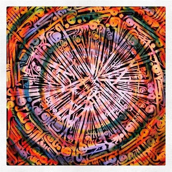 هنر خوشنویسی محفل خوشنویسی Amir Shoja  شجاعی پور #فروخته_شد (نقاشیخط) رنگین کمان عشق ...اثری مدرن..ترکیب مواد روی بوم دیپ 5 سانت با اندازه 110 در 110 سانتیمتر ...