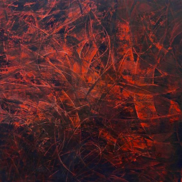 هنر خوشنویسی محفل خوشنویسی AthenaFaraji بدون عنوان  ابعاد ۱*۱ متر اکریلیک روی بوم  قاب اثر با تمایل و هزینه خریدار