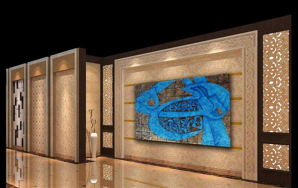 هنر خوشنویسی محفل خوشنویسی AthenaFaraji نقاشیخط مدرن(دارای بافت) تکنیک ترکیب مواد و ایربراش روی بوم با لایه محافظ ابعاد 120 * 160 سانتیمتر سال 1397