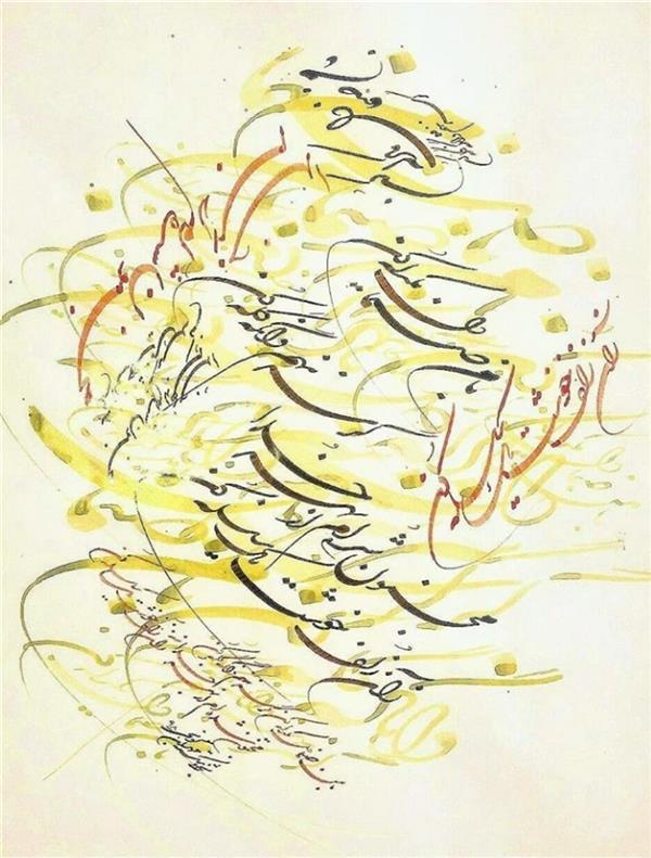 هنر خوشنویسی محفل خوشنویسی مهران گونجی نام اثر صنما.. سبک نقاشیخط(شکسته نستعلیق ) ابعاد ۳۵×۵۰ #شکسته نستعلیق #هنر_گر_چه_نان _نمیشود_اما_شراب_زندگانی_است  #استادحیدری