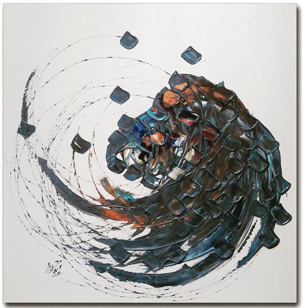 هنر خوشنویسی محفل خوشنویسی محمد (محمد باقر )ابراهیمی اکریلیک روی بوم ۸۰ در ۸۰  در دایره قسمت ما نقطه تسلیمیم #حضرت_حافظ #حس_خوب #محمد_باقر_ابراهیمی_جویباری  #محمد_ابراهیمی_جویباری  #تابلو #نقاشیخط #هنر #دکوراسیون #دیزاین #خوشنویسی