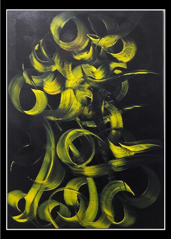 هنر خوشنویسی محفل خوشنویسی محمد (محمد باقر )ابراهیمی اکریلیک روی بوم #محمد_ابراهیمی_جویباری #تابلو #نقاشیخط #هنر #دکوراسیون #دیزاین