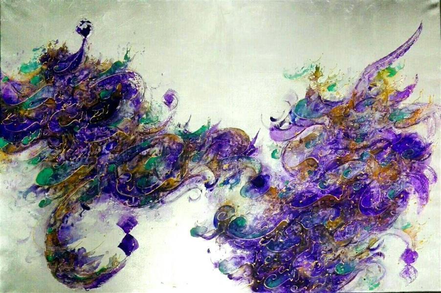 هنر خوشنویسی محفل خوشنویسی مرجان میرخاتمی صلوات اندازه :120*80 ترکیب مواد و ورق نقره #نقاشیخط #مرجان_میرخاتمی #نقاشیخط #مرجان میرخاتمی