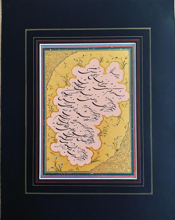 هنر خوشنویسی محفل خوشنویسی لیلا ارشادی سایز ۳۵×۵۰