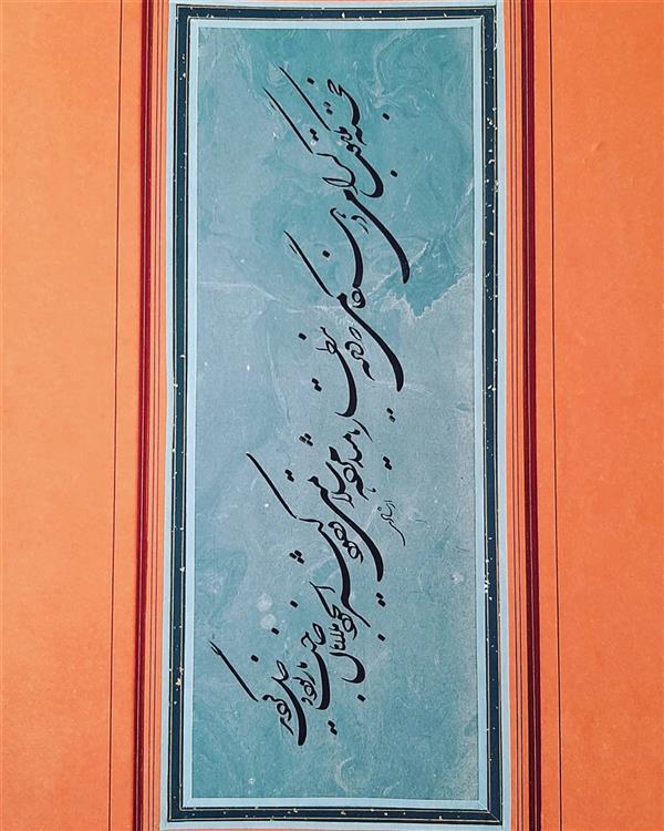 هنر خوشنویسی محفل خوشنویسی لیلا ارشادی قدما نویسی..