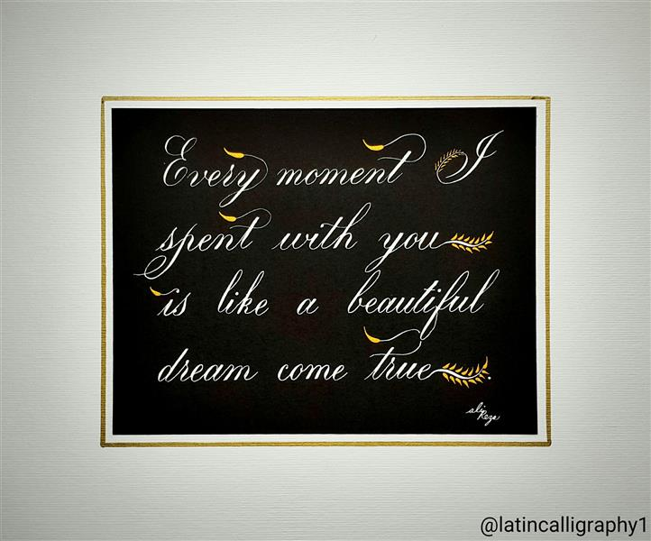 هنر خوشنویسی محفل خوشنویسی علیرضا دلاوری #copperplate #خوشنویسی #کاپرپلیت #کالیگرافی #خط #calligraphy
