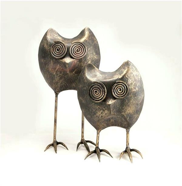 هنر سایر محفل سایر هنر ها behzadeslami_art# جغد فلزی در تنوع رنگی #جغد #برندبهزاد #زمودگری
