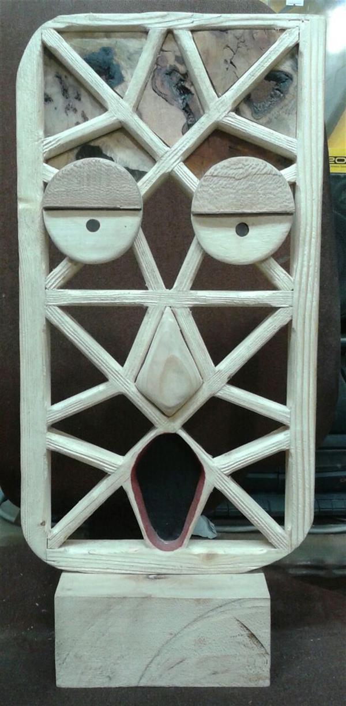 هنر سایر محفل سایر هنر ها زهرا رسولی نام اثر : تضاد مجسمه کلاژ چوب و رنگ اندازه 30×40
