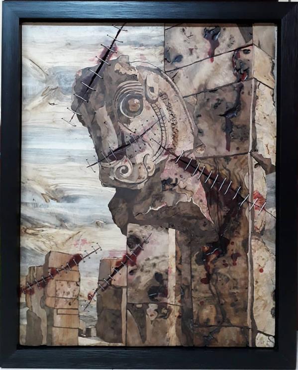 هنر سایر محفل سایر هنر ها افسانه ملانظری #معرق چوب و فلز سایز: ۶۰×۸۰