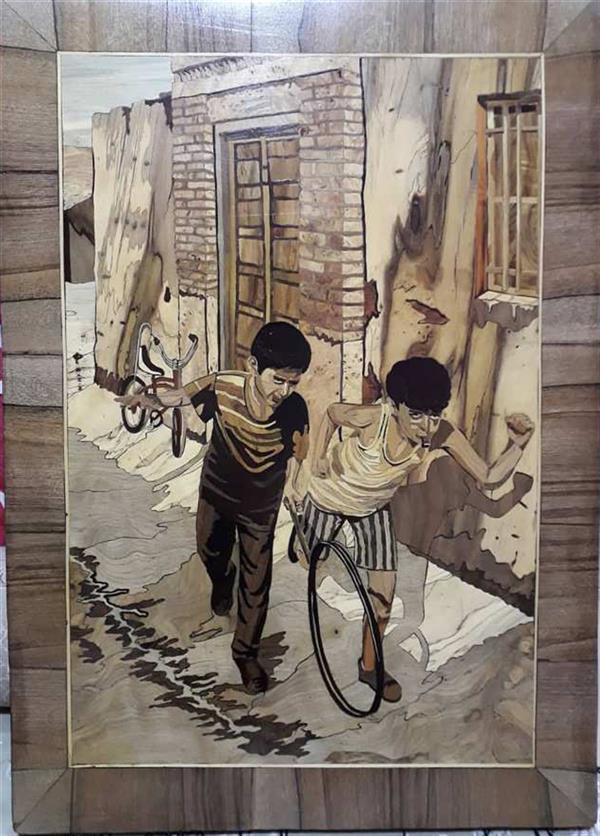 هنر سایر محفل سایر هنر ها افسانه ملانظری معرق تفکیک رنگ تمام چوب سایز:۵۰×۷۰