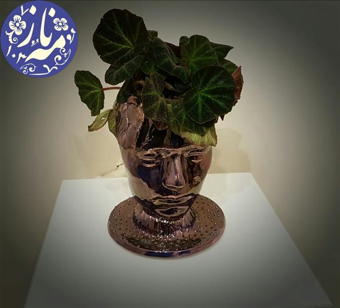 هنر سایر محفل سایر هنر ها مهنازدینیان #گلدان دکوراتیو#سرامیک#گلدان رومیزی#سفال#لعاب