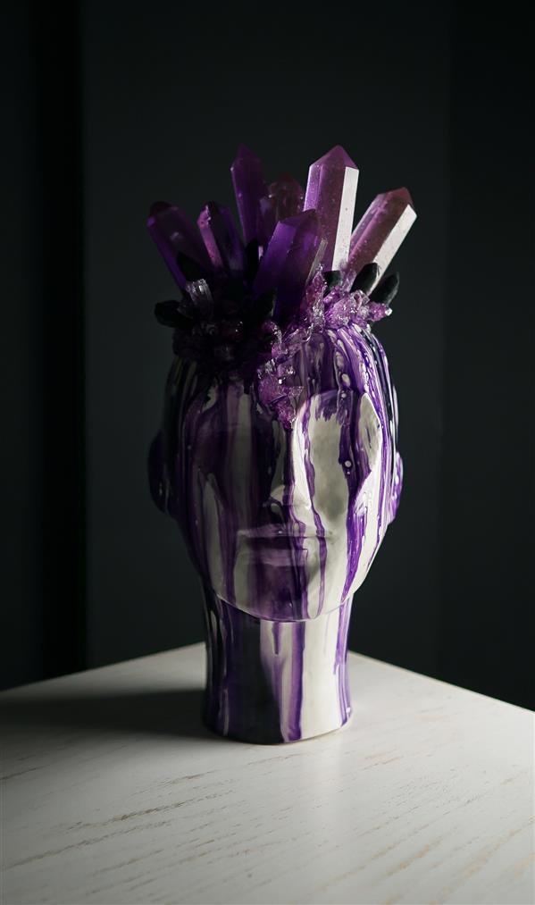 هنر سایر محفل سایر هنر ها مهناز کریمی سردیس ملکه ساخته شده از #رزین پلی استر و #رزین اپوکسی تکنیک ژئودآرت  ارتفاع  ۳۵ سانتیمتر