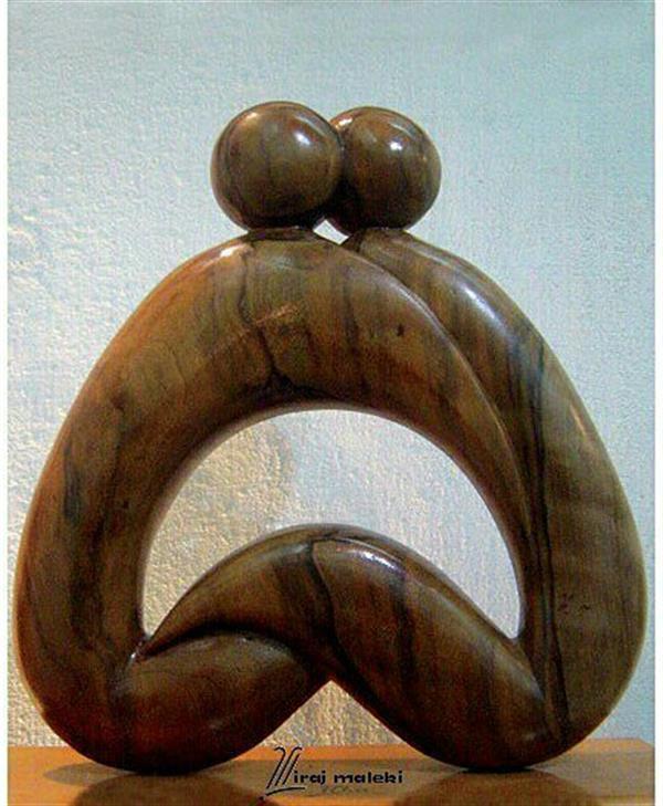 هنر سایر محفل سایر هنر ها ایرج ملکی #یگانگی - #حجم_چوبی #مجسمه ۳۰ × ۴۰