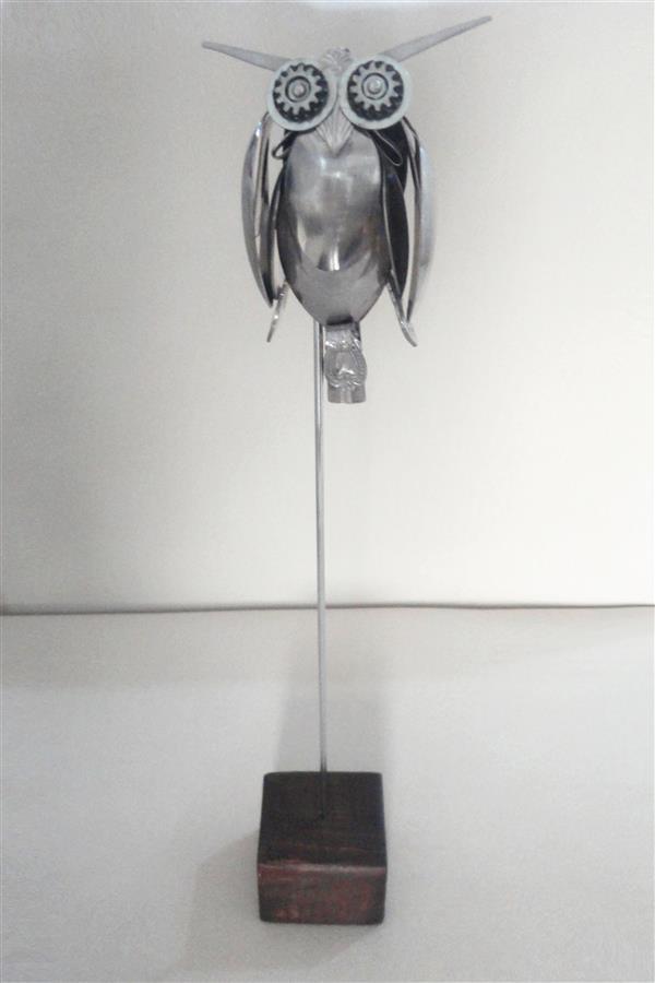 هنر سایر محفل سایر هنر ها سحر داسدار مجسمه فلزی، پایه استیل