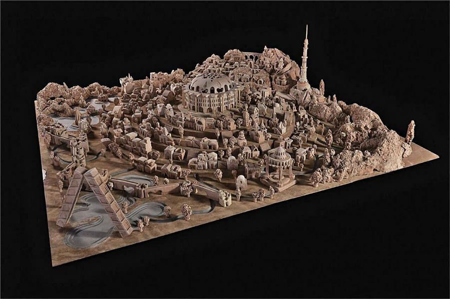 هنر سایر محفل سایر هنر ها محسن رامه شهر سفالی صلح اولین و تنها شهر سفالی ثبت شده در ایران ابعاد: ۲۰۰/۲۰۰ سانتیمتر جنس: سفال تکنیک: تراش